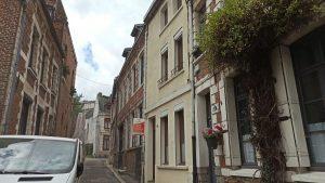 Démarrage des travaux de rénovation dans cette maison dans le centre historique d'Arras