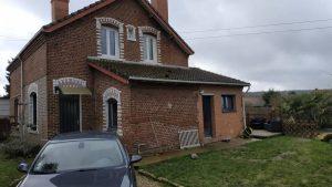 Travaux d'extension à clos couvert d'une maison à Vimy