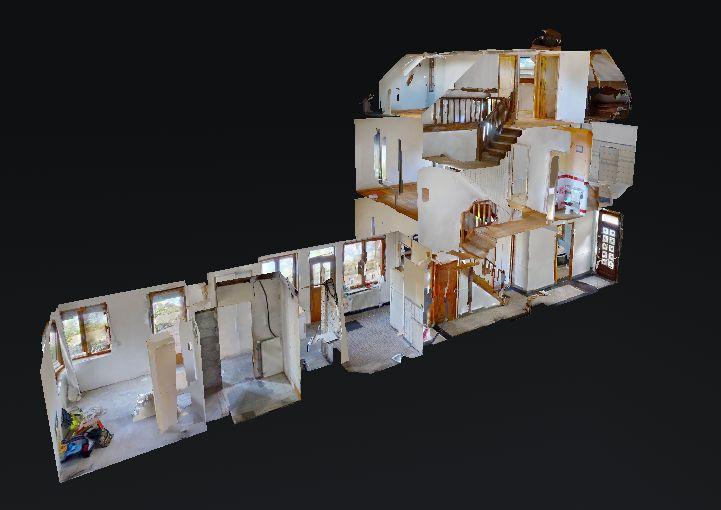 Scan 3D de cette maison à Arras.