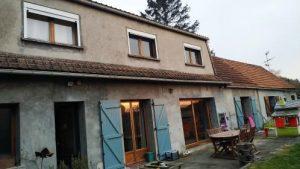 Travaux de rénovation de cette maison à Oisy-le-Verger